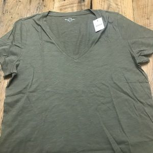 Olive/Army Green V Neck Tee